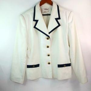 Vintage Classic White Blazer White Black Blazer White Blazer Vintage White Blazer Jacket 90s White Blazer White Fitted Blazer Jacket